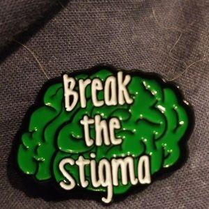 🍭🆕️Break the Stigma Green Brain Pins🍭